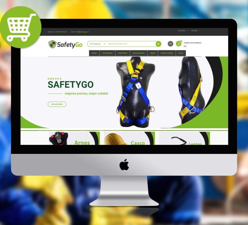 SafetyGo – E commerce – marca – web